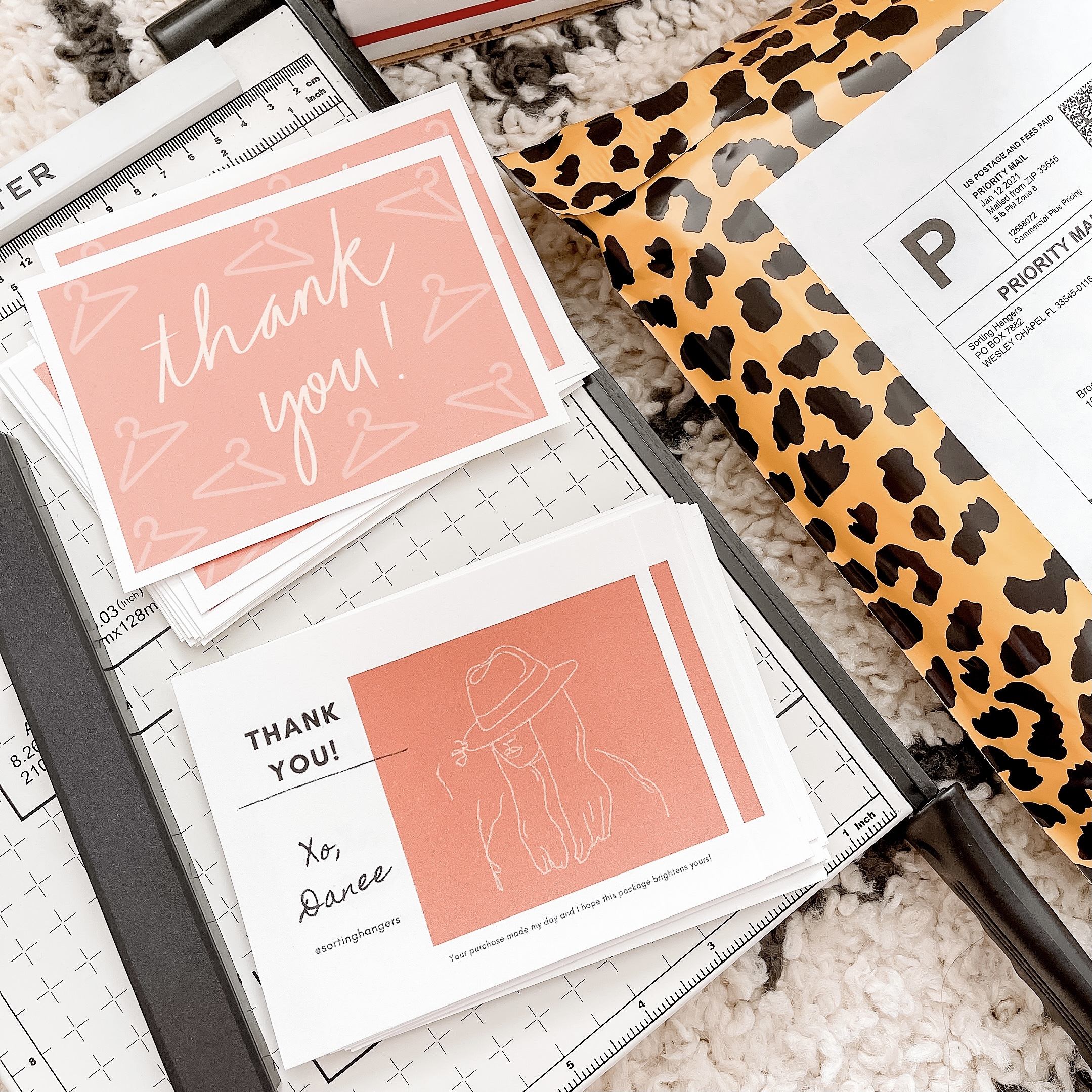 Thank you cards + mailers
